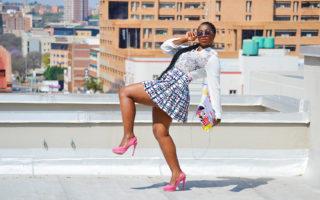 rooftop shoot pretoria printed mini skirt style