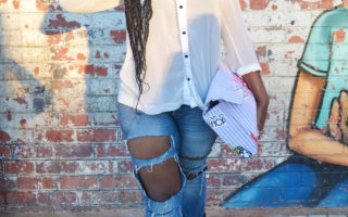pretoria social market and cartoon clutch bag