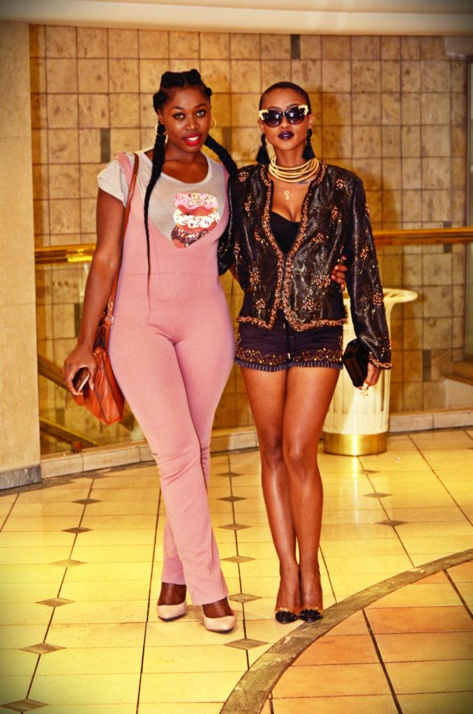 pink jumpsuit, kim kardashian braids, sa fashion week