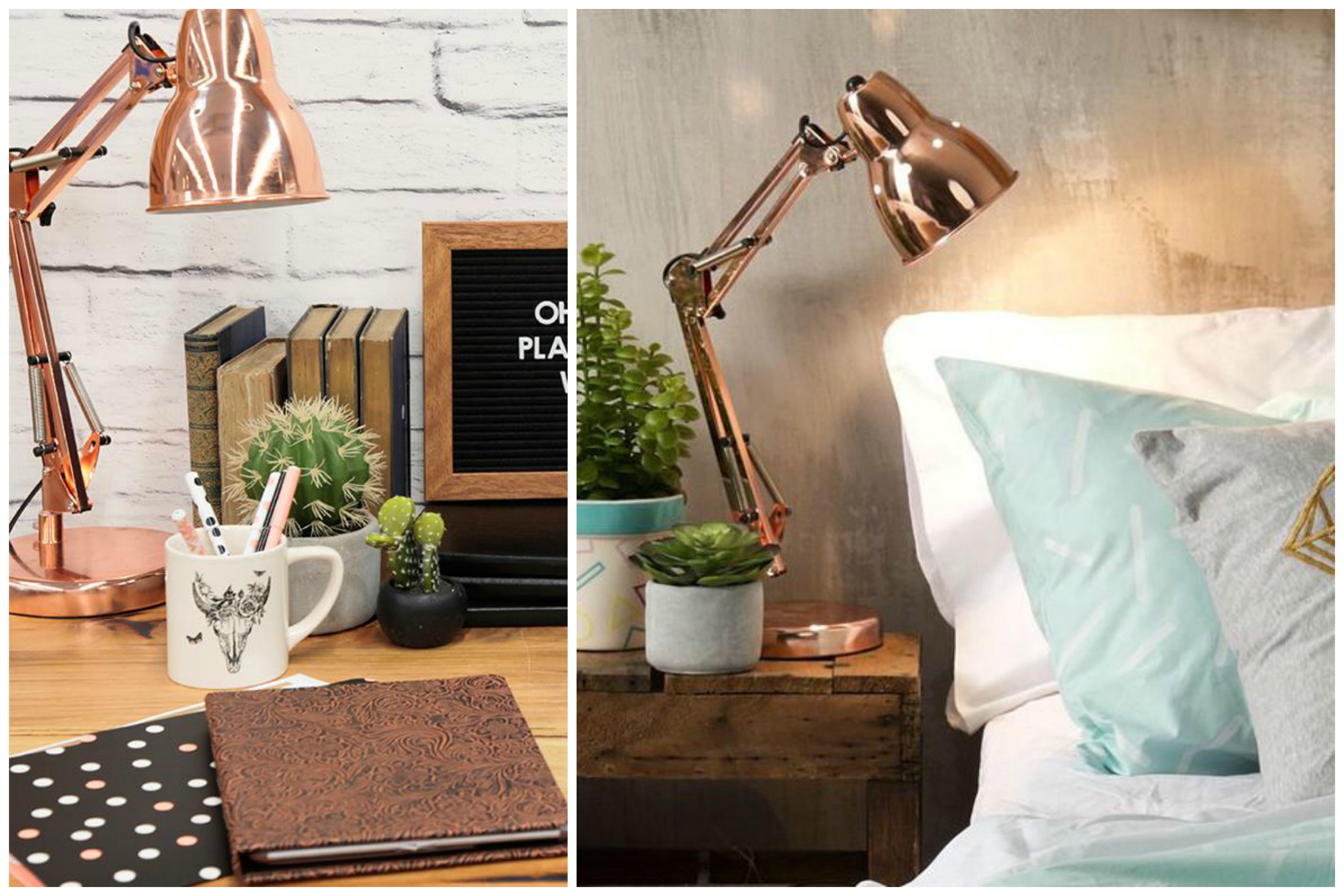 Finding rose gold decor to create a sparkling home for House table decorations