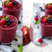 healthy carb free raspberry smoothy