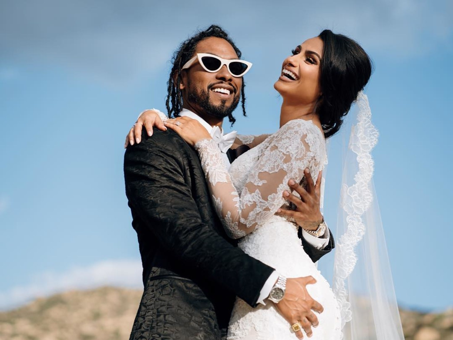 Miguel and Nazanim mandi get married