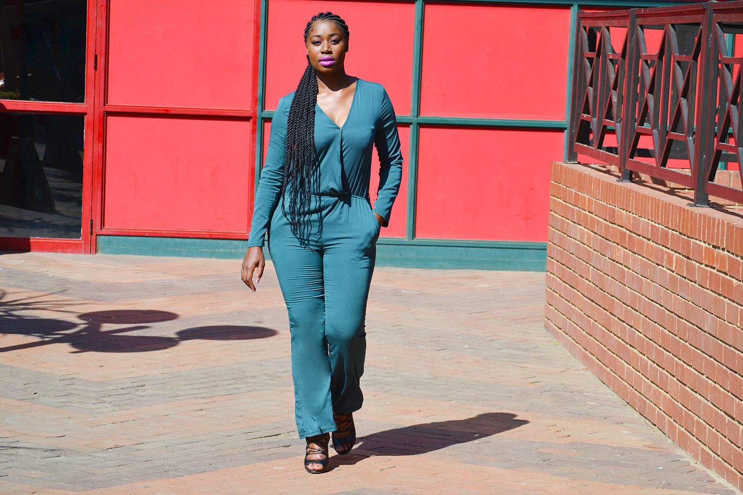 military green jumpsuit blog