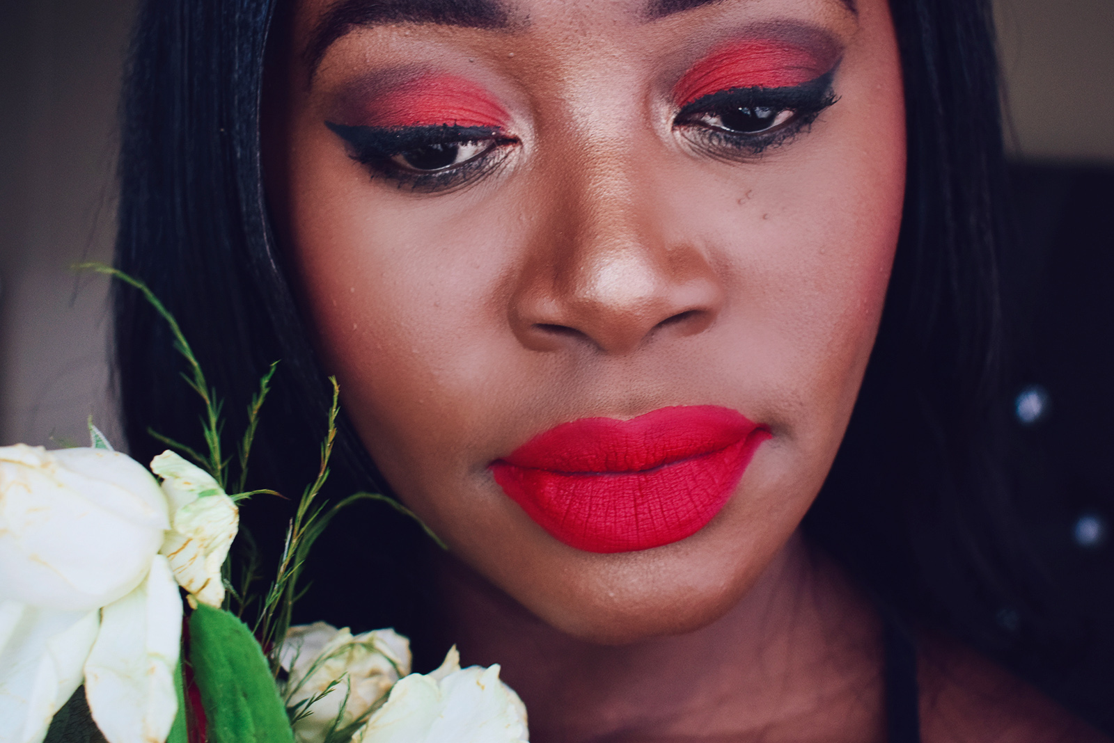 red eyeshadow ideas for makeup look