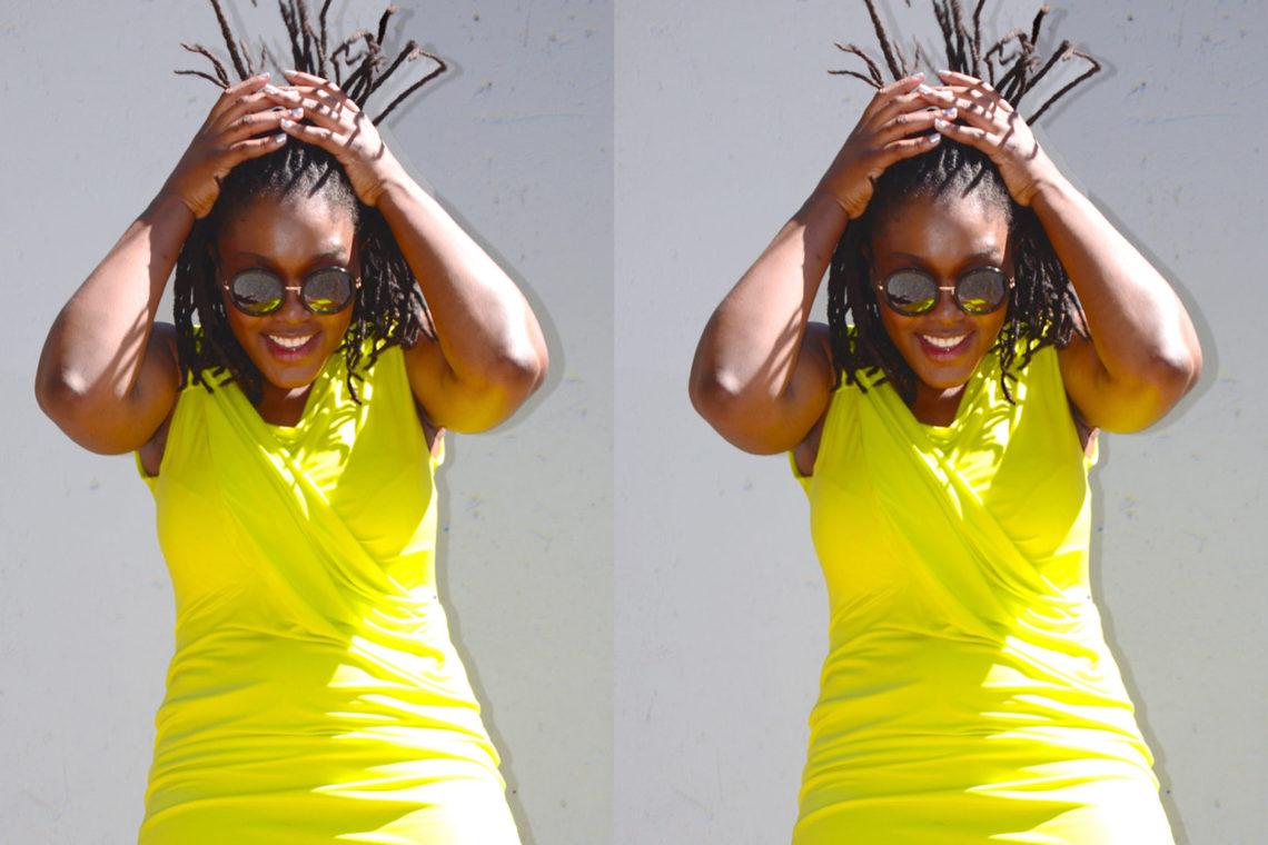 lady-zamar street yellow dress