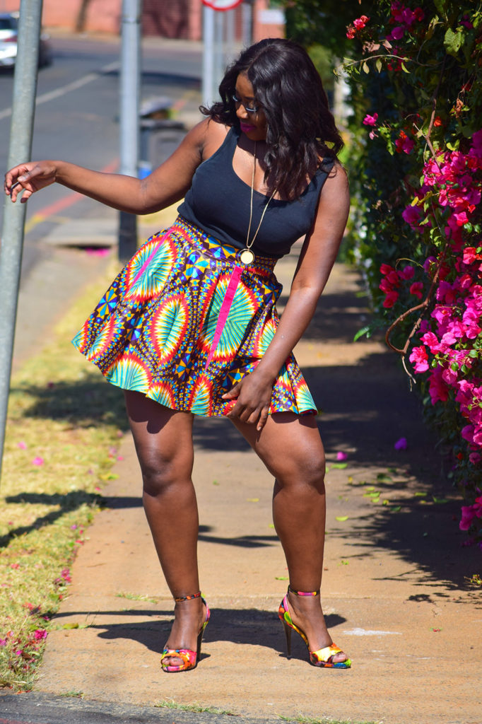 traditional ankara skirt, south africa