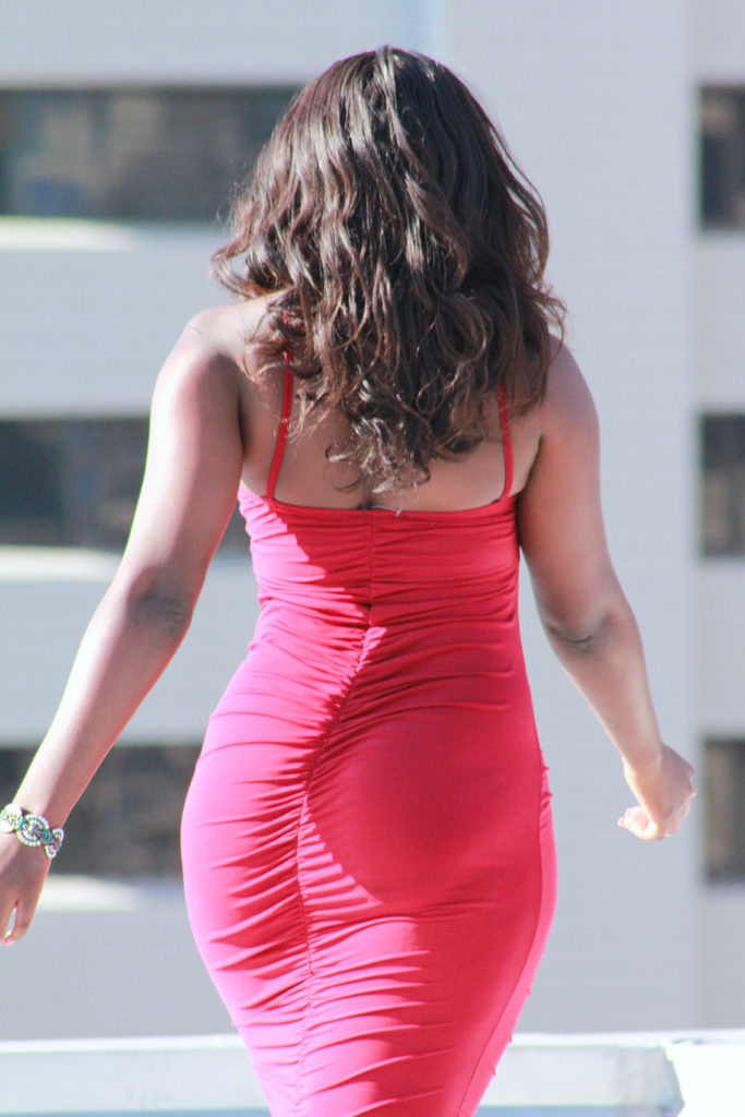 Red dress for curvy girls, africa