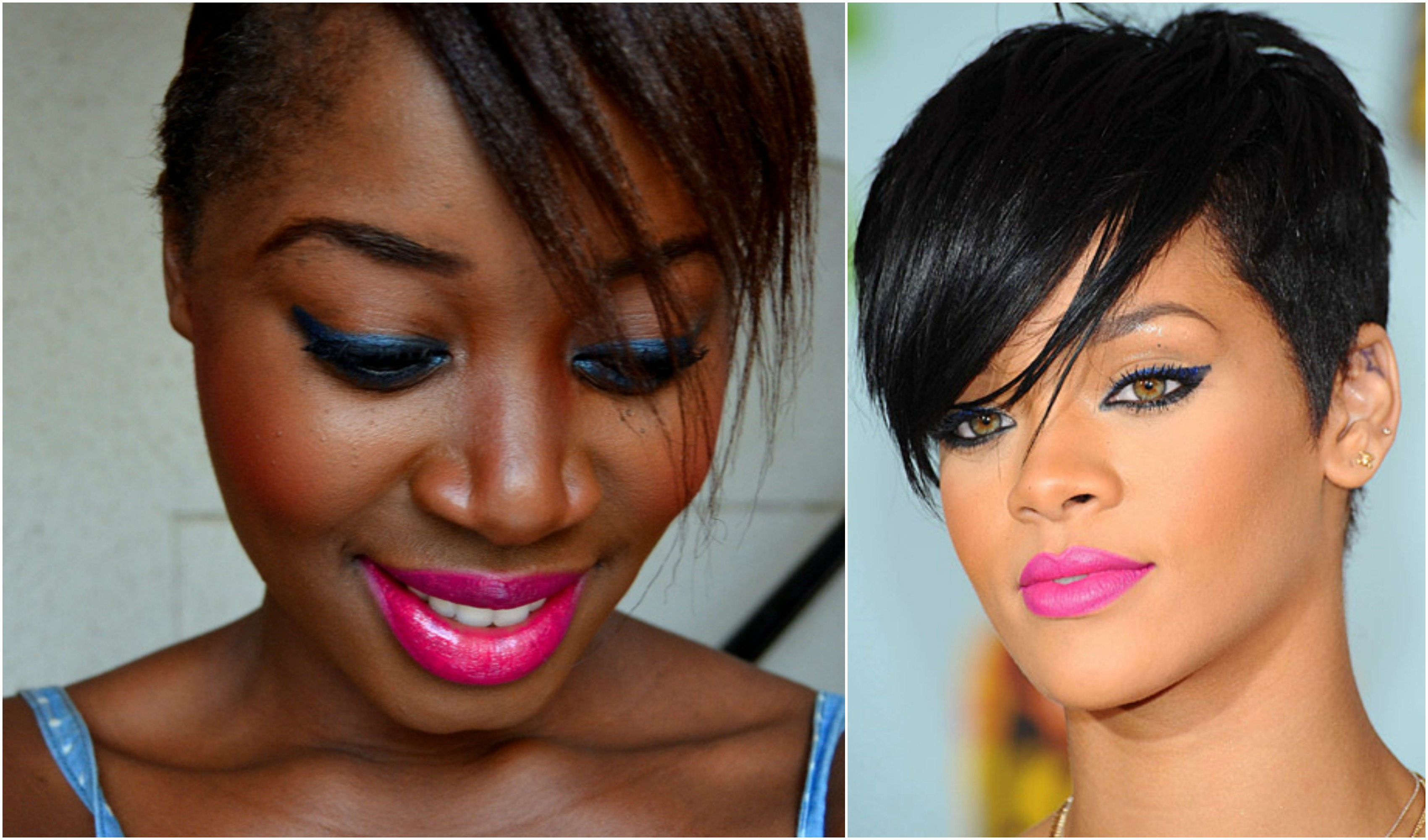 RIHANNA INSPIRED  MAKEUP AND HOW  IT TRANSLATES ON DARKER SKIN TONES
