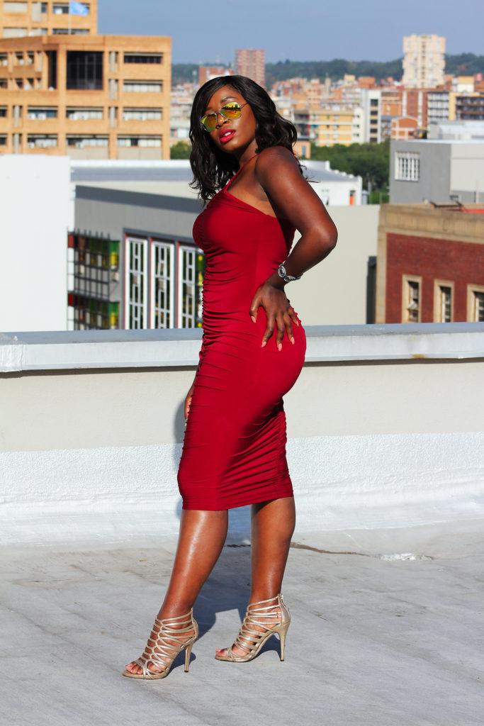 Red dress, curvy girls, africa