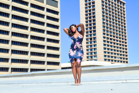 style blue floral dress, roof top shoots, tshwane,