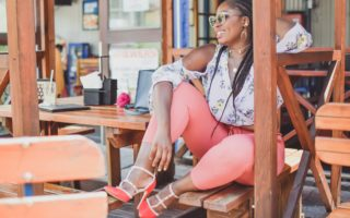 styling peach pants and floral chiffon top black beauty fashion blogger south africa (8)