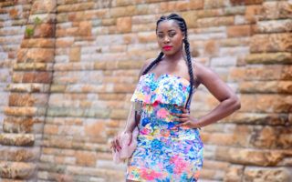 summer floral dress blue pretoria fashion blogs