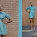 turquoise blue short dress
