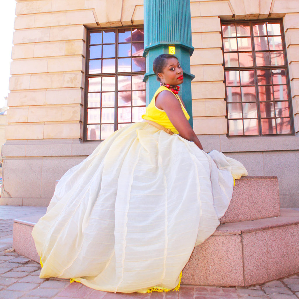 yellow traditional ndebele gown