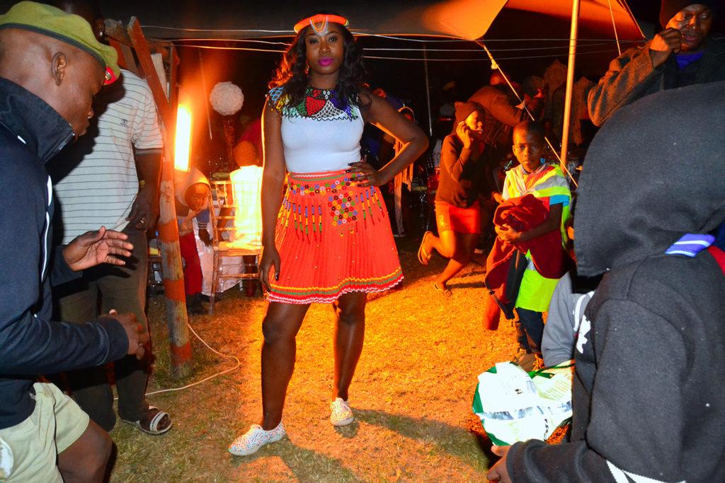 Zulu traditional wedding, Zulu bridal wear, orange skirt
