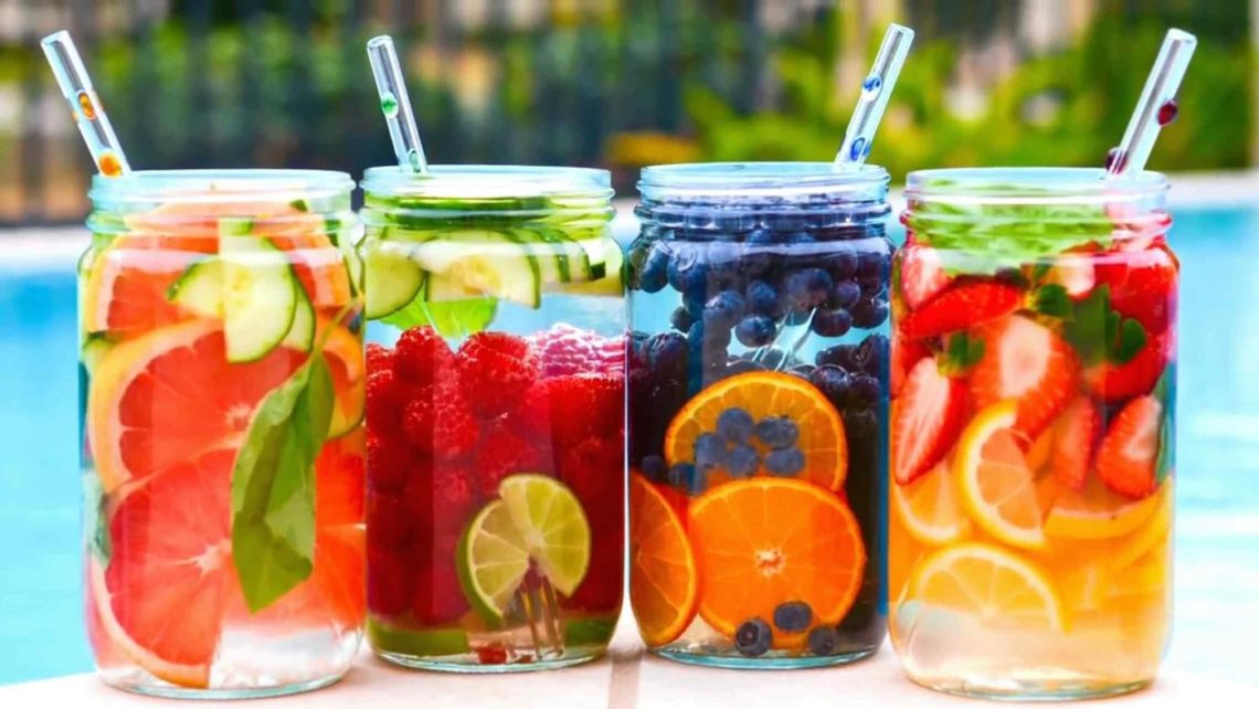 fruit water health, flat tummy
