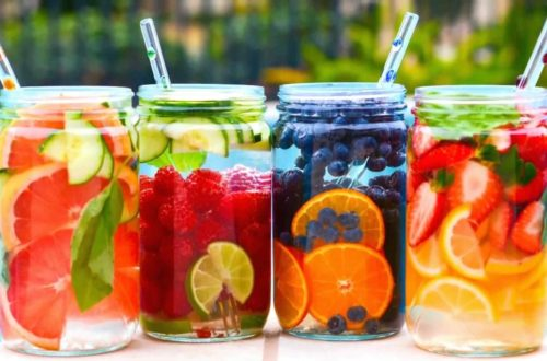 fruit water health, flat tummy