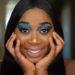 high fashion tutorial dramatic blue eye shadow palette