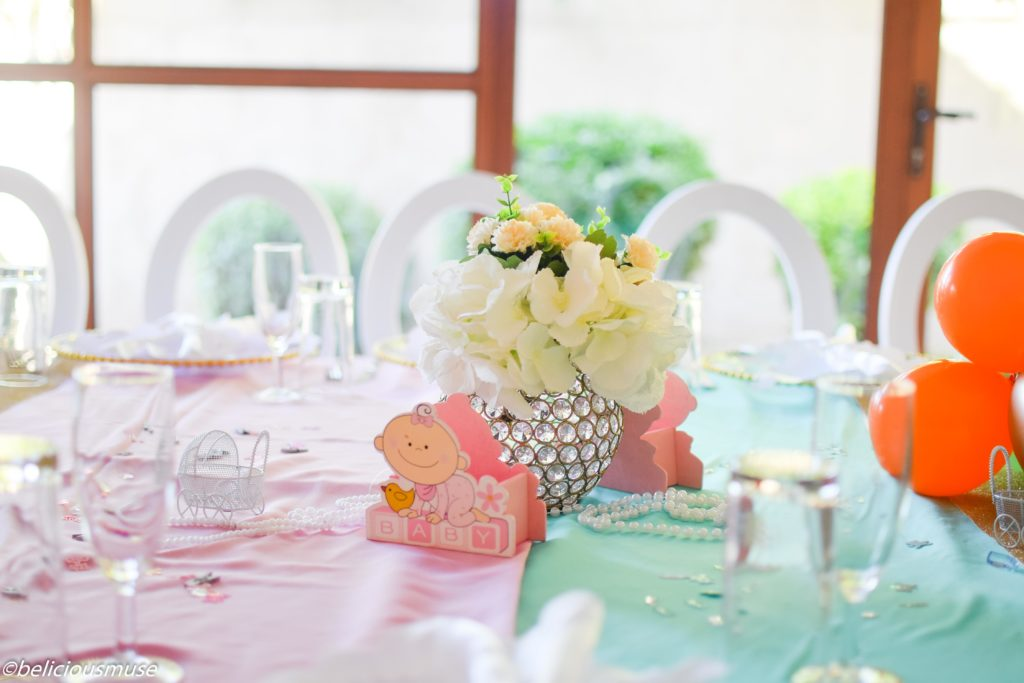 traditional baby shower decor