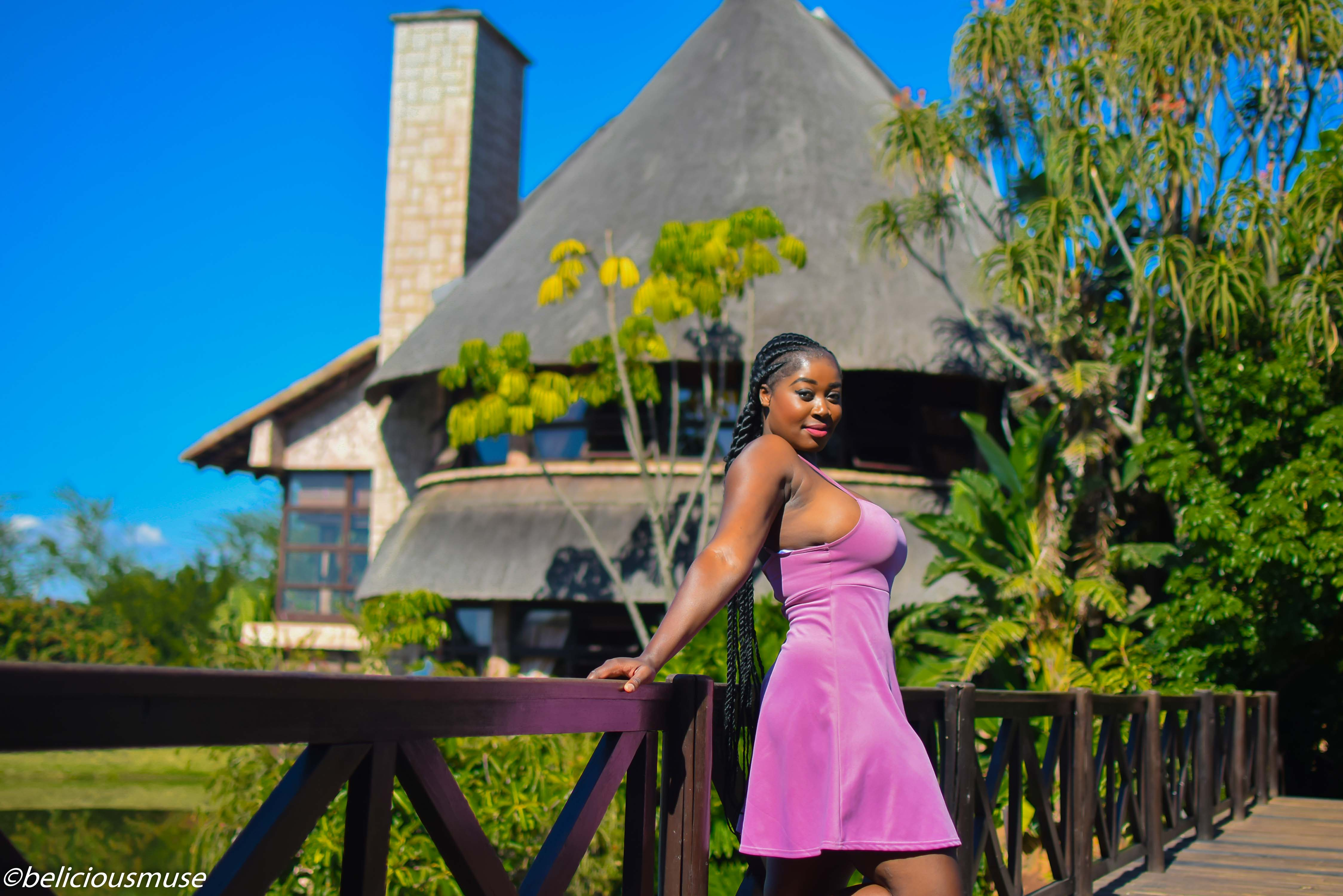 Travel Swaziland and issues with the cute purple pink dress