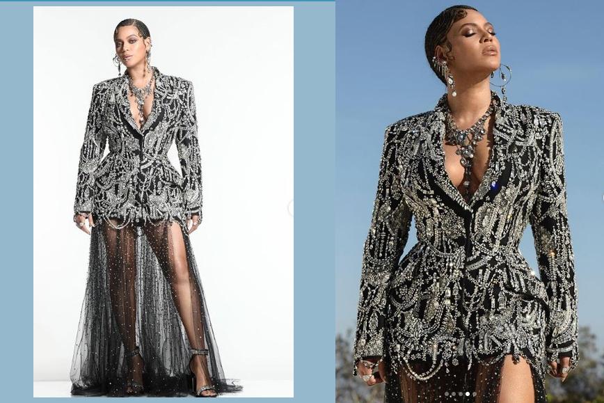 Beyonce Lion King World premier sparkles.
