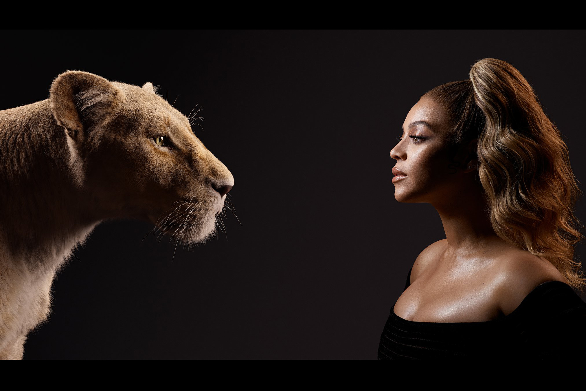 Beyonce The Lion Queen : A Lioness and  Human in 1