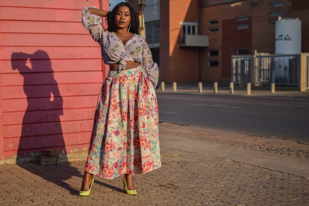 floral top floral skirt style