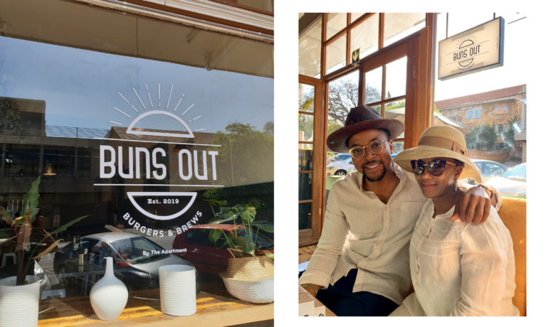 Maps Maponyane opens Restaurant (Buns Out) in Linden