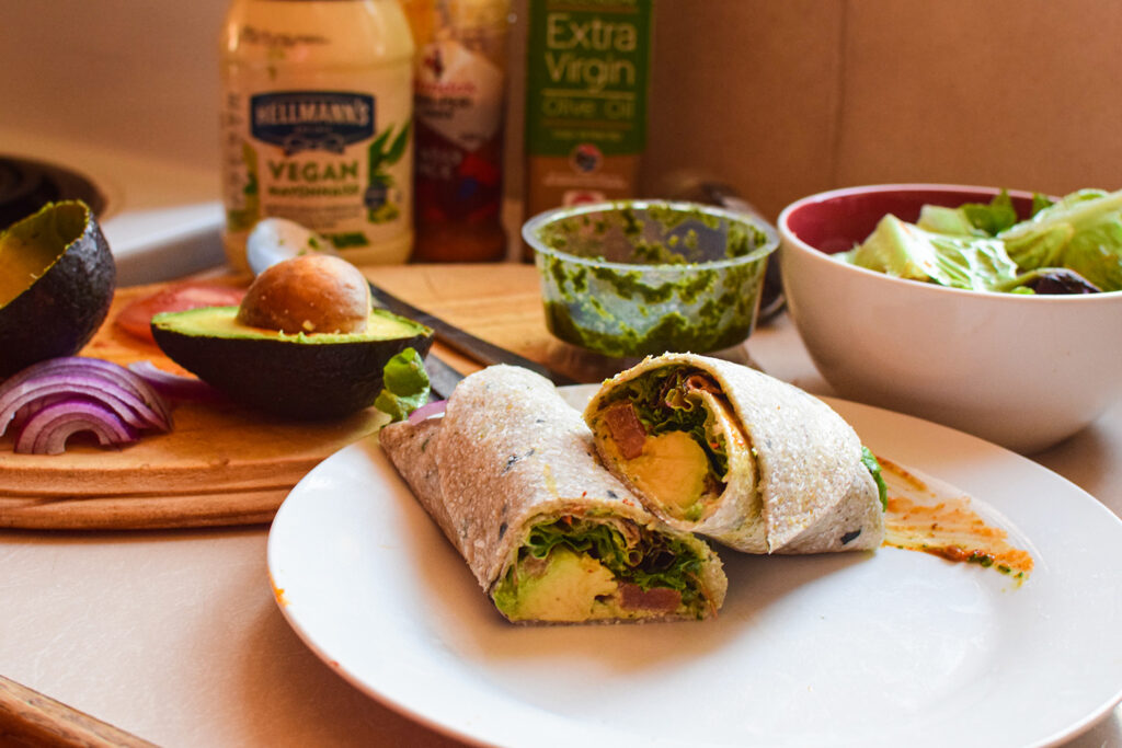 zucchini wrap, low carb vegan wraps