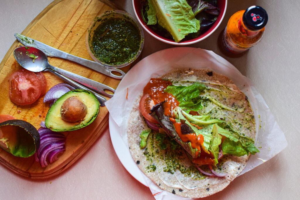 vegan wrap, zucchini wrap, low carb vegan wraps