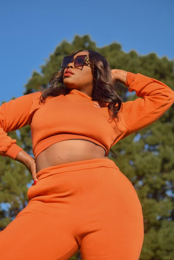 Foschini Orange sweat pants and top sale